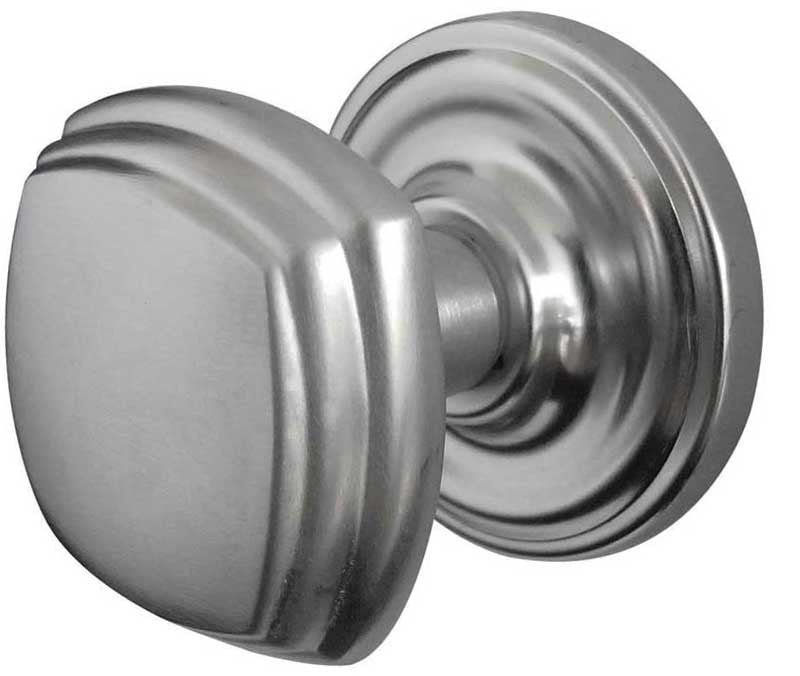 JV64SC Art Deco Mortice Door Knobs Satin Chrome