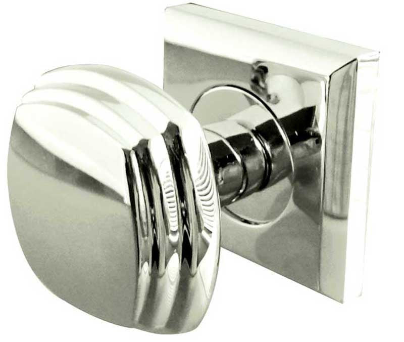 JV74PC Art Deco Mortice Door Knobs Polished Chrome