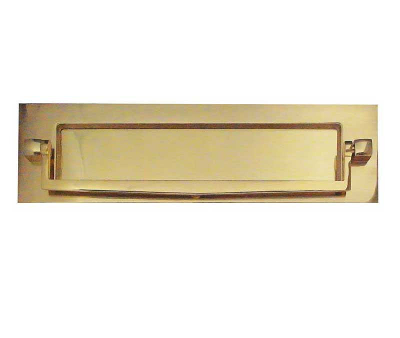 Polished Brass Postal Knocker Letterplate