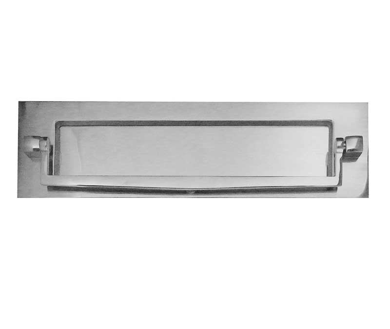 Polished Chrome Postal Knocker Letterplate