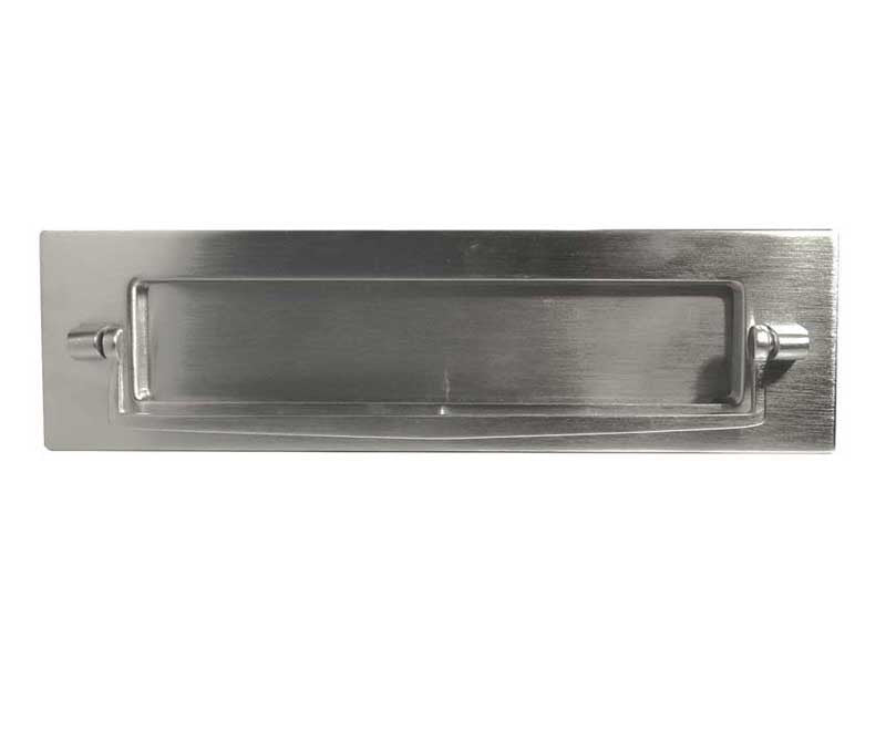 Satin Chrome Postal Knocker Letterplate