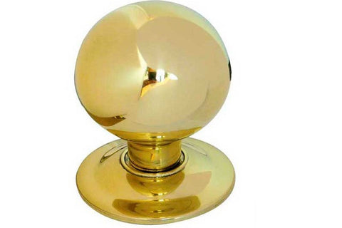 JV830 Polished Brass Centre Door Knob