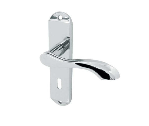 JV921PC Broadway Polished Chrome Frelan Hardware Locking Door Handles