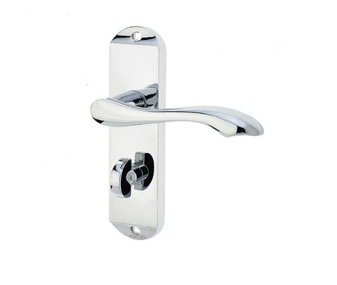 JV922PC Broadway Polished Chrome Frelan Hardware Bathroom Door Handles