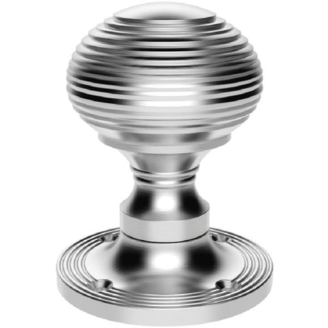 Queen Anne Reeded Mortice Door Knobs M4D1001 - Various Finishes