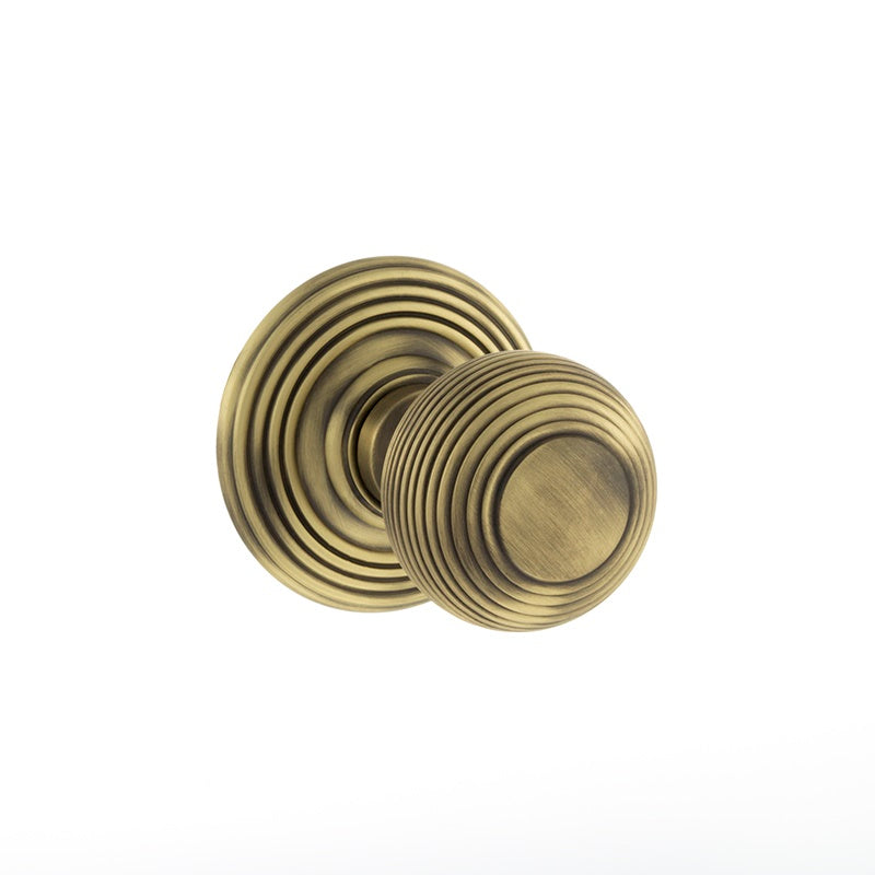 Atlantic UK Old English, OE50RMKMAB Ripon Mortice Door Knobs - Matt Antique Brass