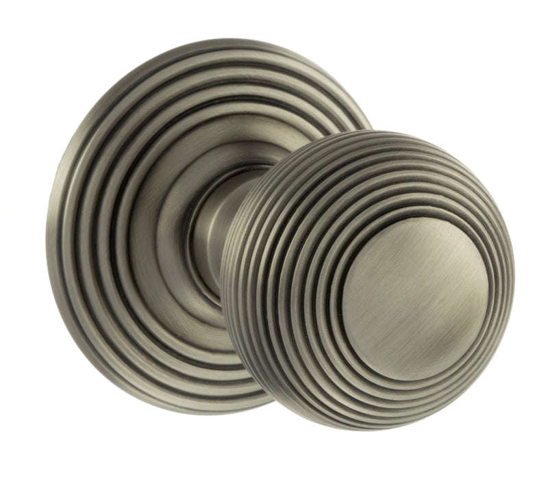 Atlantic UK Old English, OE50RMKMBN Ripon Mortice Door Knobs - Matt Gun Metal