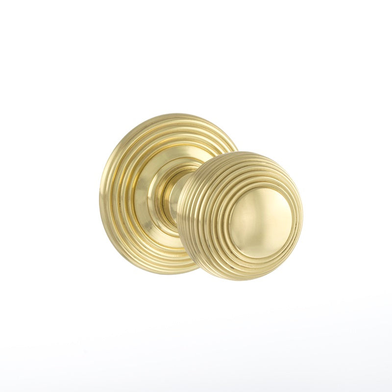Atlantic UK Old English, OE50RMKPB Ripon Mortice Door Knobs - Polished Brass
