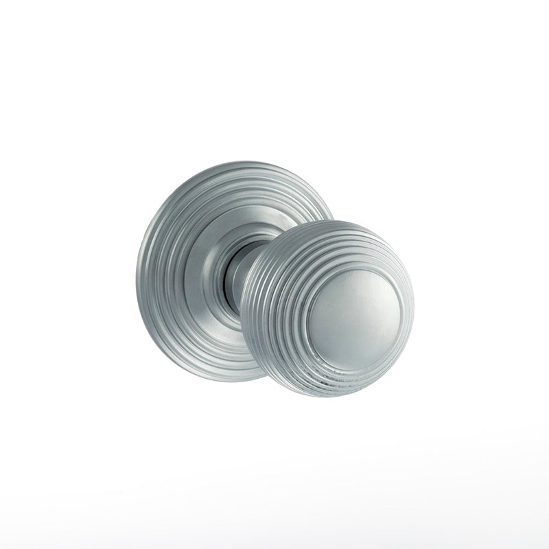Atlantic UK Old English, OE50RMKSC Ripon Victorian Mortice Door Knobs - Satin Chrome