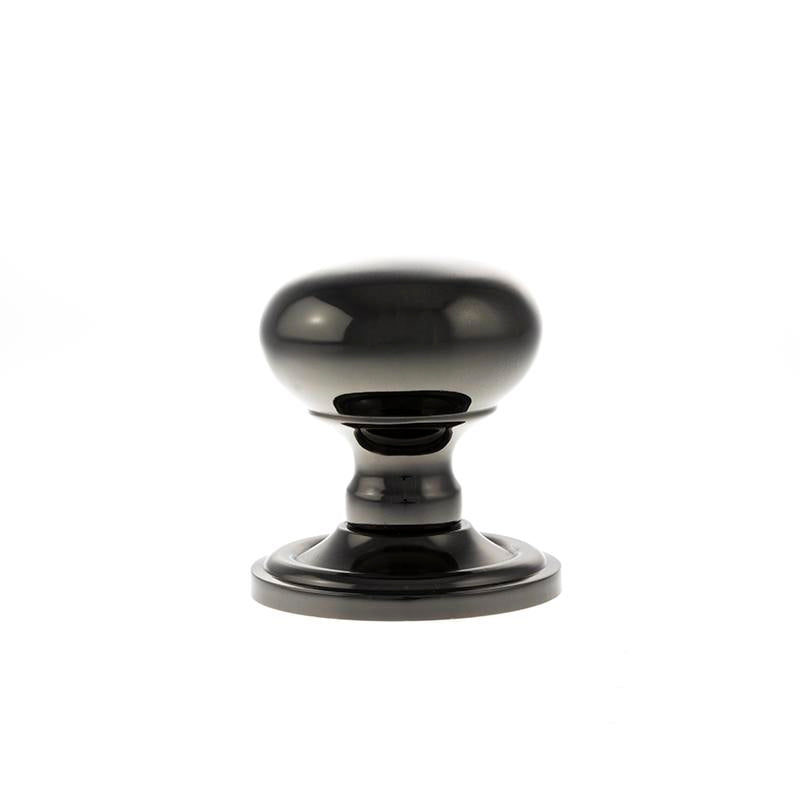 Black Nickel finish Atlantic UK, Old English, OE58MMKBN Harrogate Mushroom Mortice Door Knobs