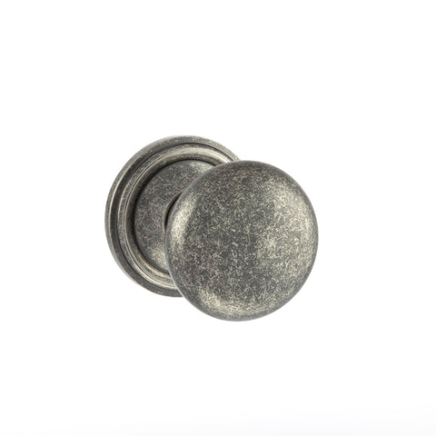 DISTRESSED SILVER  - OE58MMK Harrogate Mushroom Mortice Door Knobs