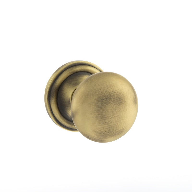 MATT ANTIQUE BRASS  - OE58MMK Harrogate Mushroom Mortice Door Knobs