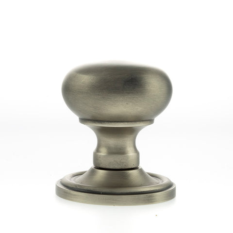 MATT GUN METAL (SIDE VIEW) - OE58MMK-MBN Harrogate Mushroom Mortice Door Knobs (SIDE VIEW)