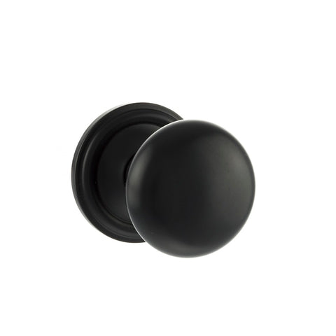 MATT BLACK  - OE58MMK Harrogate Mushroom Mortice Door Knobs