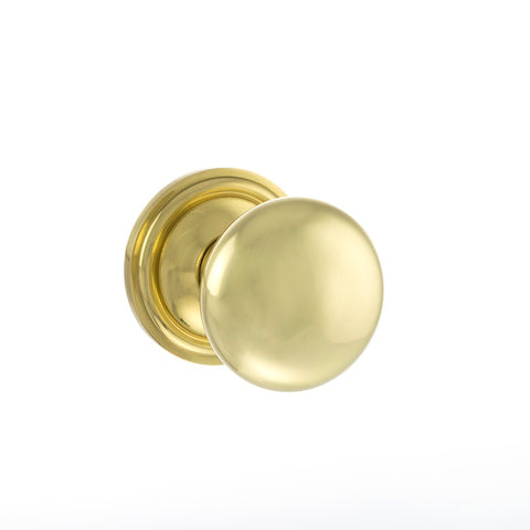 POLISHED BRASS - OE58MMK Harrogate Mushroom Mortice Door Knobs