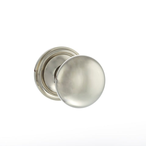 POLISHED NICKEL - OE58MMK Harrogate Mushroom Mortice Door Knobs