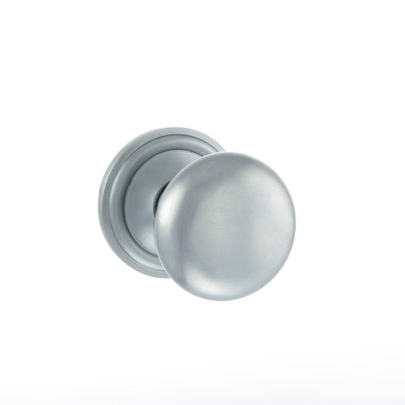Atlantic UK, OE58MMKSC Harrogate Mushroom Mortice Door Knobs - Satin Chrome