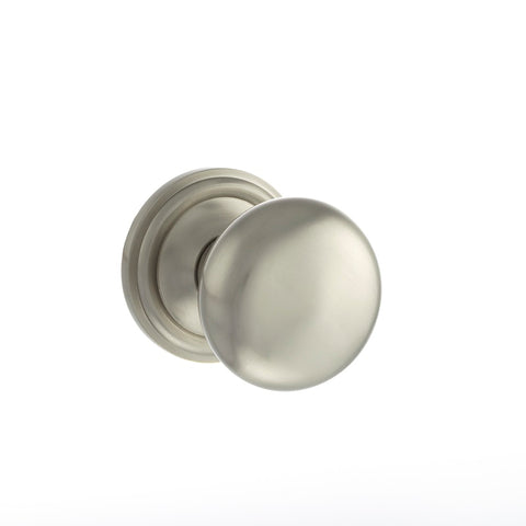 SATIN NICKEL  - OE58MMK Harrogate Mushroom Mortice Door Knobs
