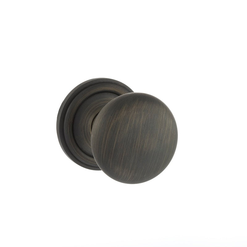 Atlantic UK Old English, OE58MMKUB Harrogate Mushroom Mortice Door Knobs - Urban Bronze
