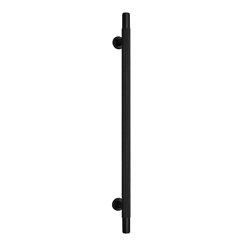 Knurled Matt Black T-Bar Drawer/Cabinet Pull Handle - 96mm, 128mm, 192mm Centres