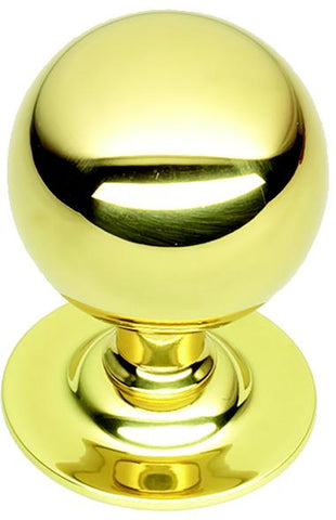 PB671 Centre Door Knob POLISHED BRASS