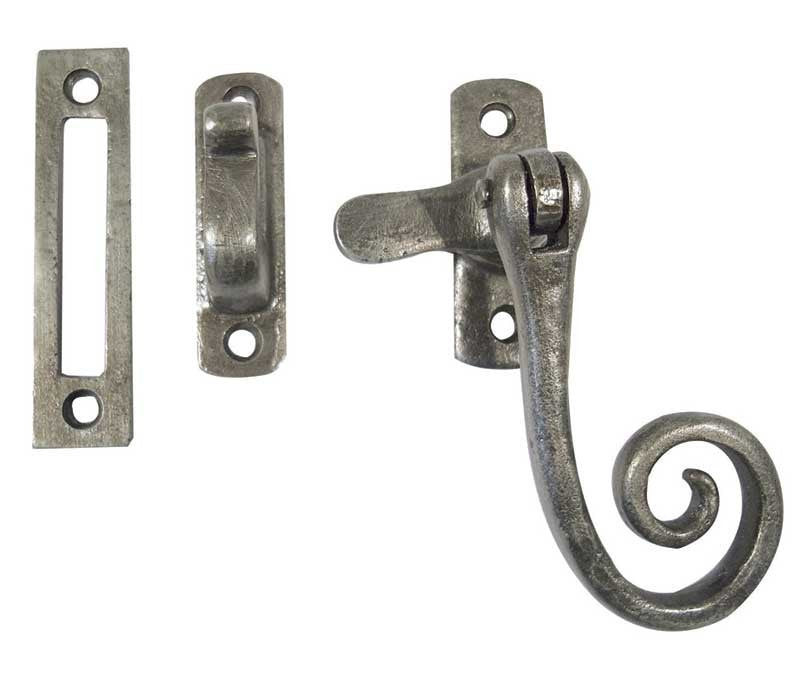 Pewter Casement Fastener Hook & Plate