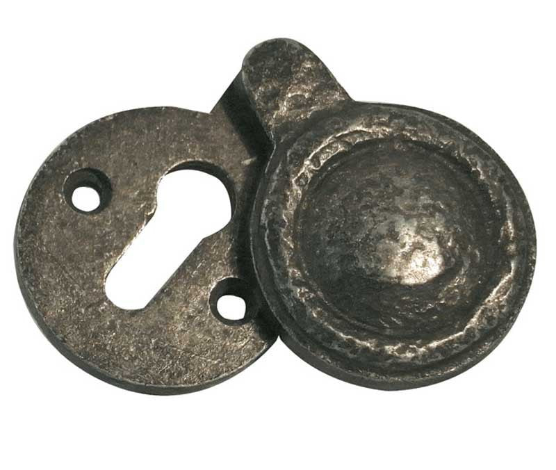 Pewter Covered Keyhole Escutcheon