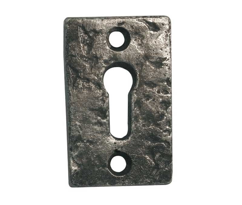 Pewter Rectanglar Keyhole Escutcheon