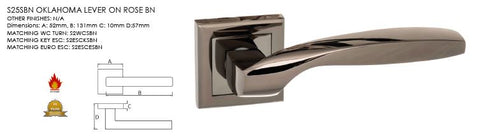 Oklahoma Black Nickel Door Handles On Square Rose S25SBN