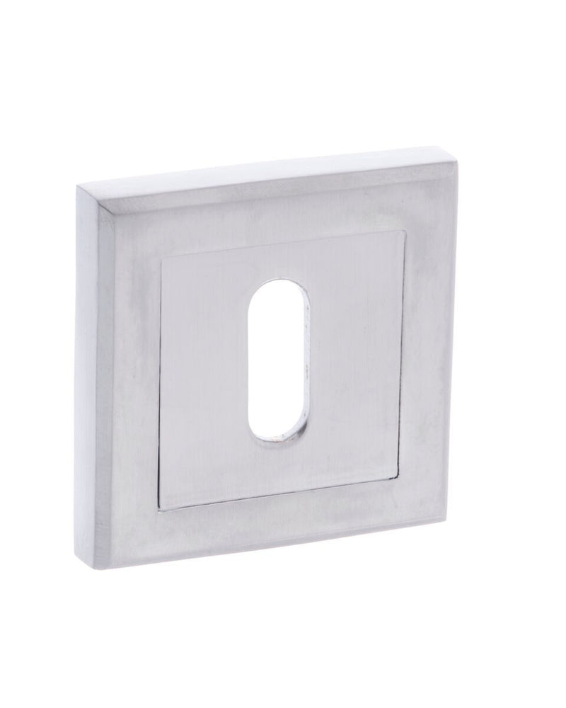 Square Standard Profile Keyhole Escutcheon Various Finishes S2ESC-KS