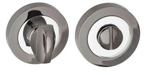 Bathroom Turn and Release Polished Chrome/Black Nickel S3WC-R-BNPC
