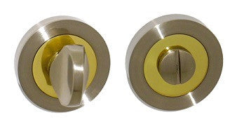 Dual Finish Satin Nickel/Brass