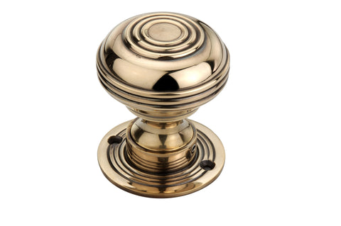 Aged Brass Bloxwich Mortice Door Knobs (Solid Brass) - SB2103AGB