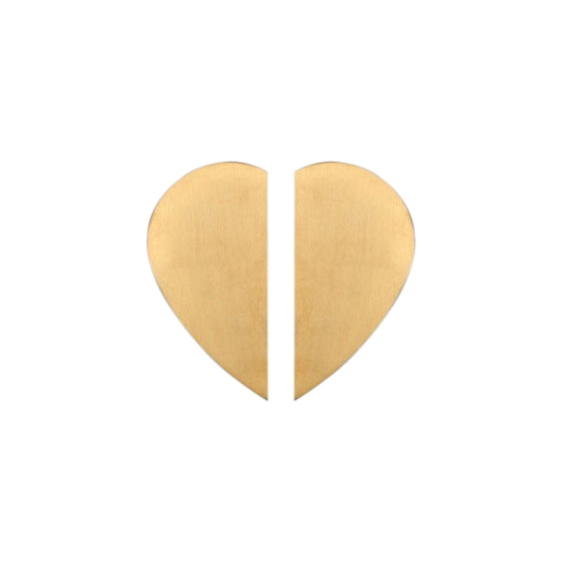 Satin Brass/Brushed Gold Heart Shaped Cabinet/Cupboard Pull Handles