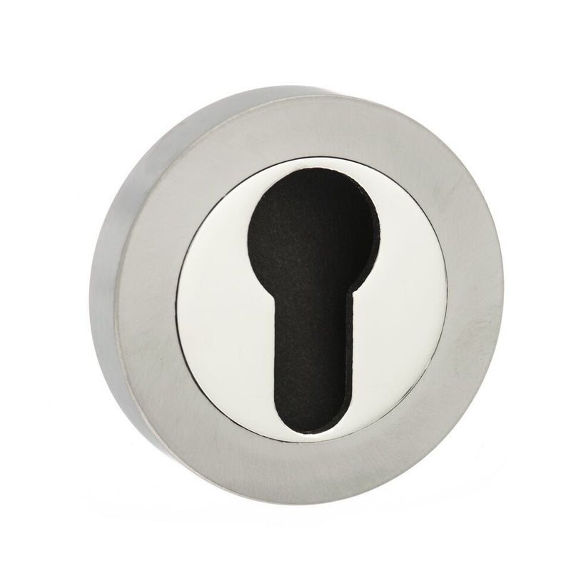 Atlantic Senza Pari 'EURO PROFILE' Keyhole Round Rose, Various Finishes-SPM-ESC-E