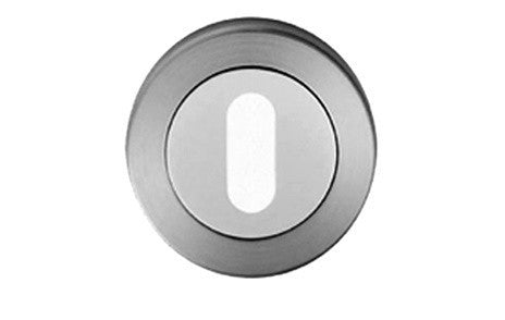 Duo Finish Stainless Steel Keyhole Cover Plate