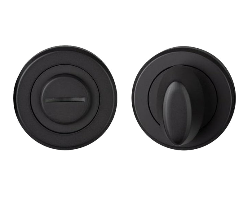 Matt Black Bathroom Thumbturn & Release - M4D004MB