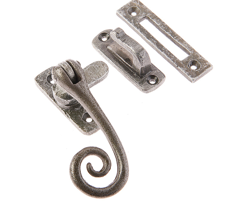 Valley Forge Pewter Patina Curly Tail Window Casement Fastener VF19RT