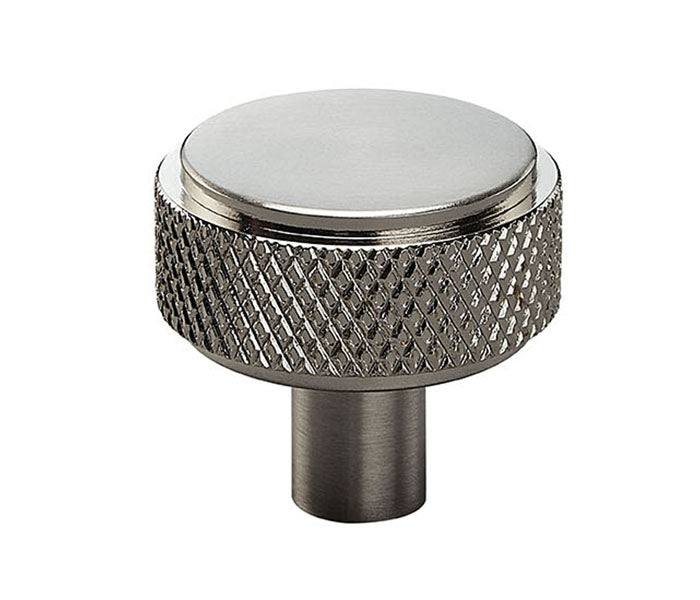 Satin Nickel Knurled Industrial Chic Drawer/Cupboard Knobs - 30mm