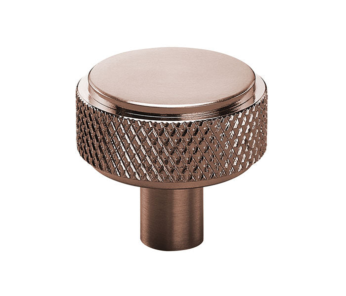 Rose Gold Copper Knurled Industrial Style Cupboard Door Knobs
