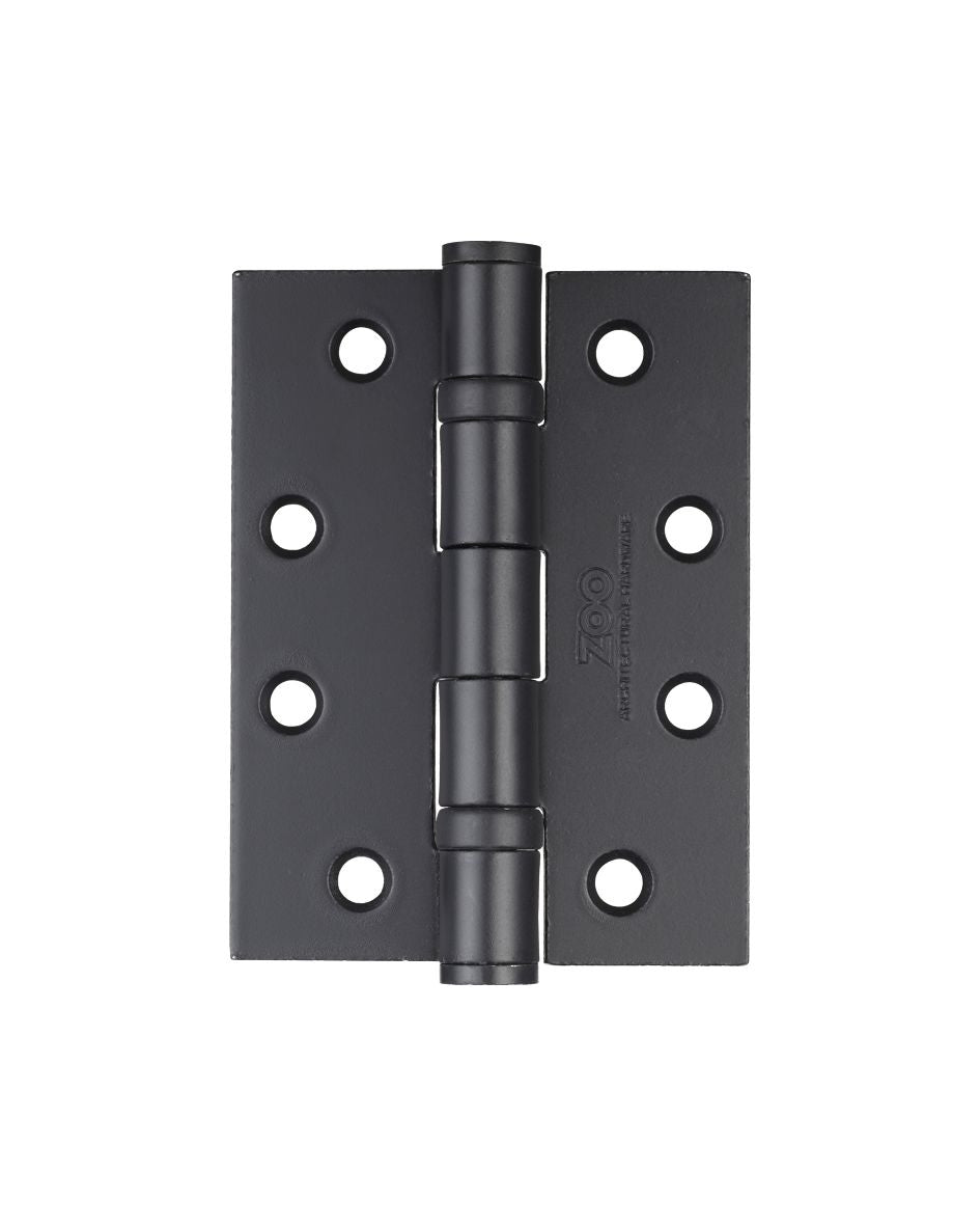 Zoo Hardware ZHS43PCB 102x76x3mm Ball Bearing Hinge Steel Powder Coated Black