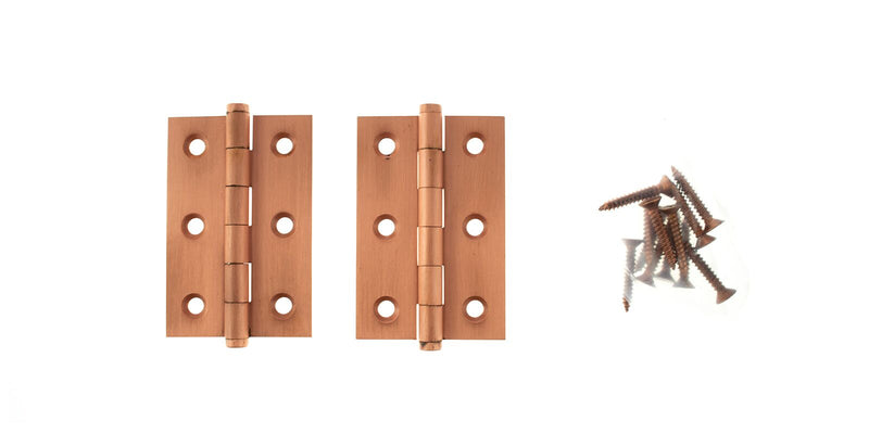3 Inch Urban Satin Copper Butt Hinges - ABH3222USC