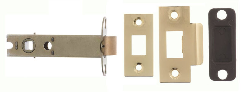 4 Inch AL4PB Polished Brass Heavy Sprung Mortice Latch