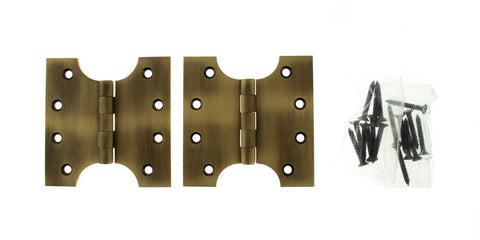 4 x 4 Inch Matt Antique Brass/Bronze Atlantic UK Parliament Hinges - APH424MAB