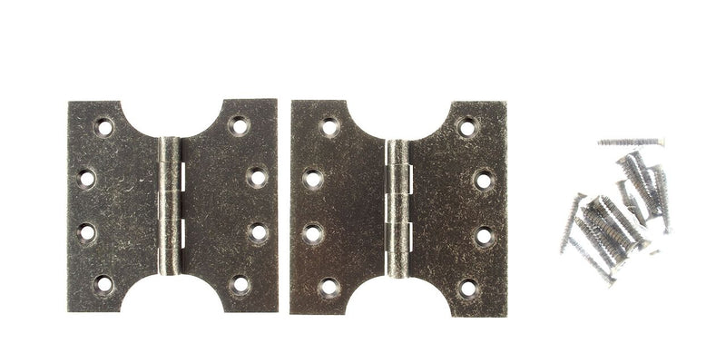 4 x 4 Inch Distressed Silver Pewter Atlantic UK Parliament Hinges - APH424DS