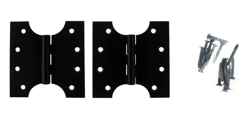 Matt Black Parliament Hinges 4 Inch - APH424MB