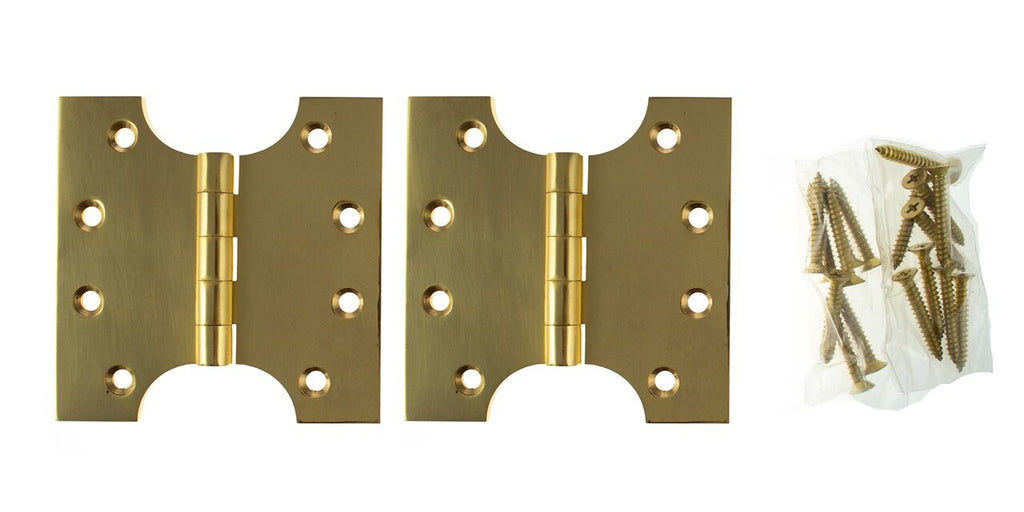 4 x 4 Inch Polished Brass Atlantic UK Parliament Hinges - APH424PB