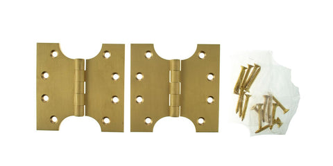 4 x 4 Inch Satin Brass Atlantic UK Parliament Hinges - APH424SB