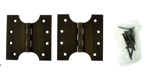 4 x 4 Inch Dark Urban Bronze Atlantic UK Parliament Hinges - APH424UB