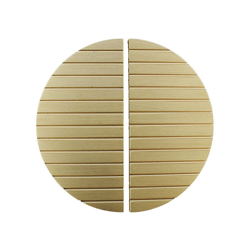 Satin Brass/Gold Striped Half Moon Cabinet/Cupboard Pull Handles - 90mm & 150mm